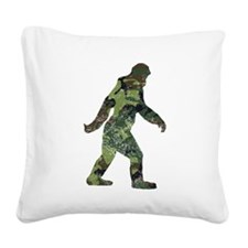 Camo Bigfoot Square Canvas Pillow