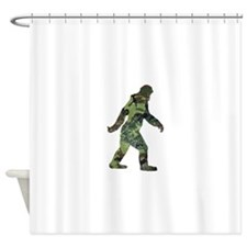 Camo Bigfoot Shower Curtain