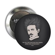 "Tesla -Horrors 2.25"" Button"