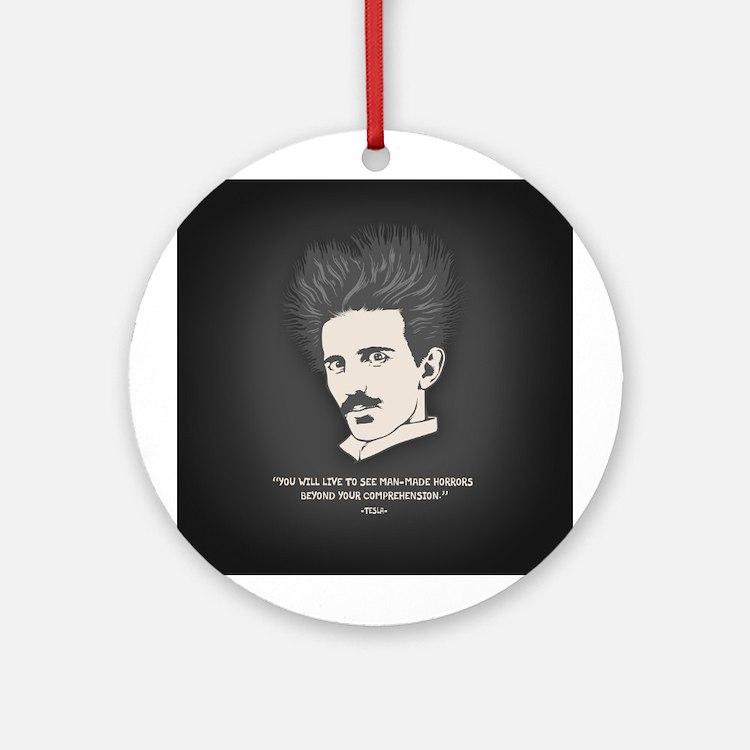 Tesla -Horrors Ornament (Round)