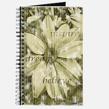 inspire, dream, believe flowe Journal