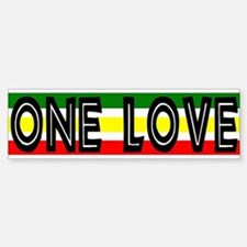 ONE LOVE Reggae Bumper Car Car Sticker