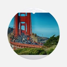 Golden Gate Bridge Ornament (Round)