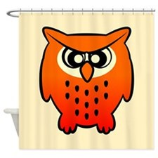 Funny Owl Shower Curtain