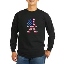 American Bigfoot Long Sleeve T-Shirt