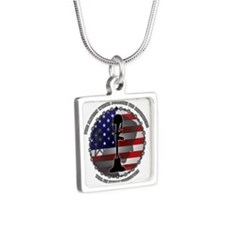 The Nation Which Forgets I Silver Square Necklace