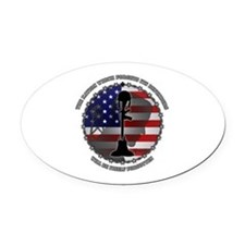 The Nation Which Forgets Its Defen Oval Car Magnet