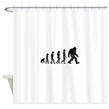 Bigfoot Evolution Shower Curtain