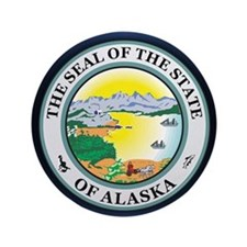 "Alaska Seal 3.5"" Button"