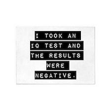 I Took An IQ Test 5'x7'Area Rug