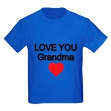 Love You Grandma With Red Heart T-Shirt