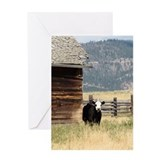 Cow art Greeting Cards