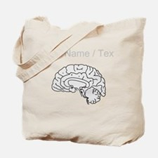 Custom Grey Brain Tote Bag