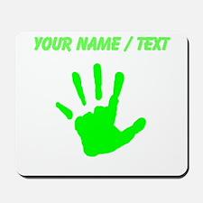 Custom Neon Green Handprint Mousepad