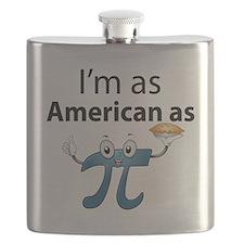 Im as American as Apple Pie Flask