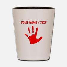 Custom Red Handprint Shot Glass
