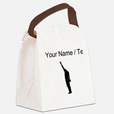 Custom Black Power Canvas Lunch Bag