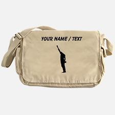 Custom Black Power Messenger Bag