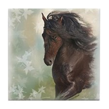 Friesian Horse Tile Coaster