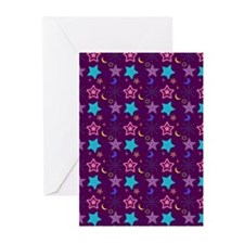 Midnight Stars Pattern Greeting Cards (Pk of 20)
