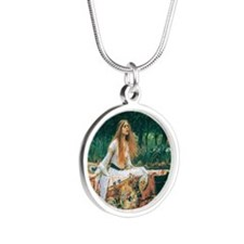 Waterhouse: Lady of Shalott Silver Round Necklace