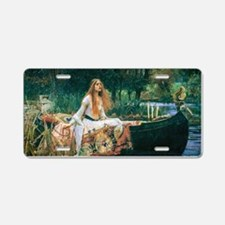 Waterhouse: Lady of Shalott Aluminum License Plate