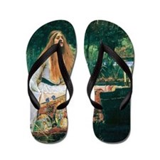 Waterhouse: Lady of Shalott Flip Flops