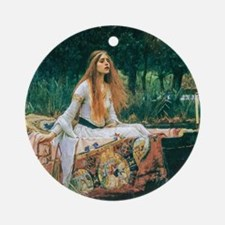 Waterhouse: Lady of Shalott Ornament (Round)