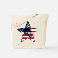 Lacrosse Flag Star Helm Tote Bag