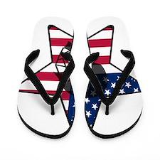 Lacrosse Flag Star Helm Flip Flops