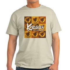 Kansas Sunflower Squares T-Shirt
