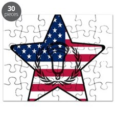 Lacrosse Flag Star VW Puzzle