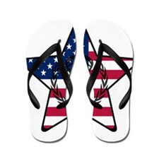 Lacrosse Flag Star VW Flip Flops