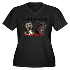Say No To Breed Bans! Women's Plus Size V-Neck Dar
