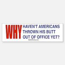 Why Obama Bumper Bumper Bumper Sticker