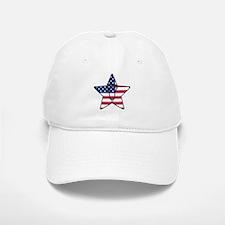 Lacrosse Flag Star Head Weathered Baseball Baseball Cap