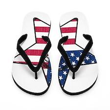 Lacrosse Flag Star Head Weathered Flip Flops