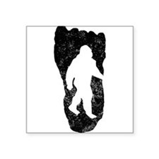 Bigfoot In Footprint Sticker
