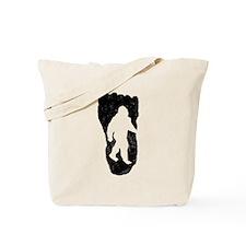 Bigfoot In Footprint Tote Bag