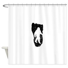 Bigfoot In Footprint Shower Curtain