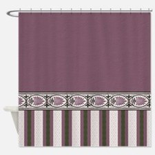 Solid, Stripes And Pattern - Mauve Shower Curtain