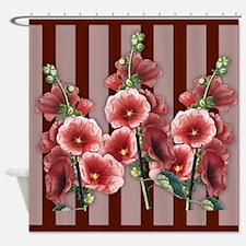 Hollyhocks Shower Curtain