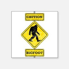 Caution Bigfoot Sticker