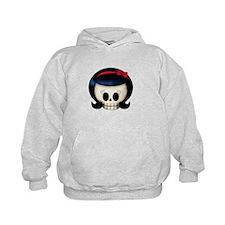 Rockabilly Girl Skull Hoodie