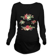 Flower design true l Long Sleeve Maternity T-Shirt