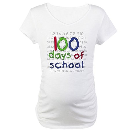 Numbers 100 Days Maternity T-Shirt