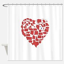 New Hampshire Heart Shower Curtain