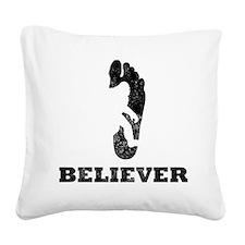 Bigfoot Believer Square Canvas Pillow