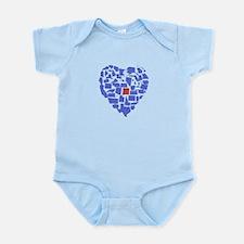 New Mexico Heart Infant Bodysuit