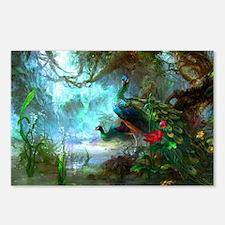peacock gem Postcards (Package of 8)